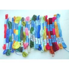 """Нитки для вышивания """"GAMMA""""  мулине  ( 0820-3070 )  х/б, 8 м, №0906 т.розовый"""