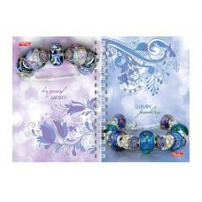 Книжка записная 80л А6 гр.Luxury Jewelry двойная обл. 80ЗКтд6В1гр_15909 Хатбер
